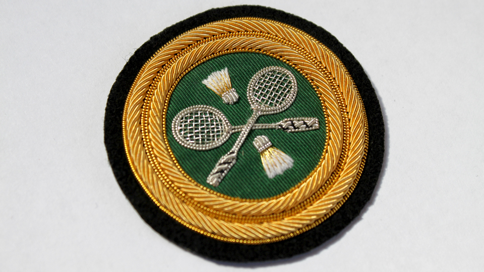 tennis fashion blazer badge