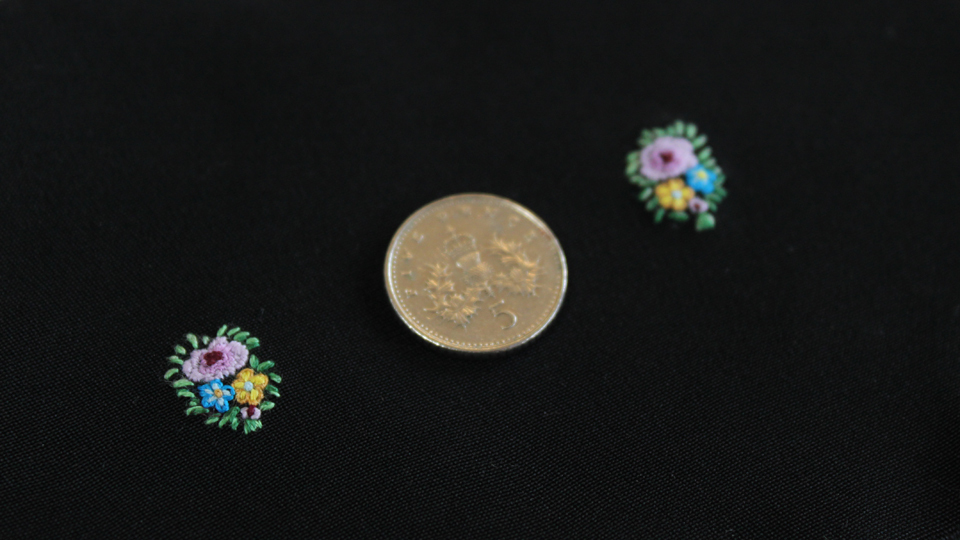 tiny hand embroidery flowers