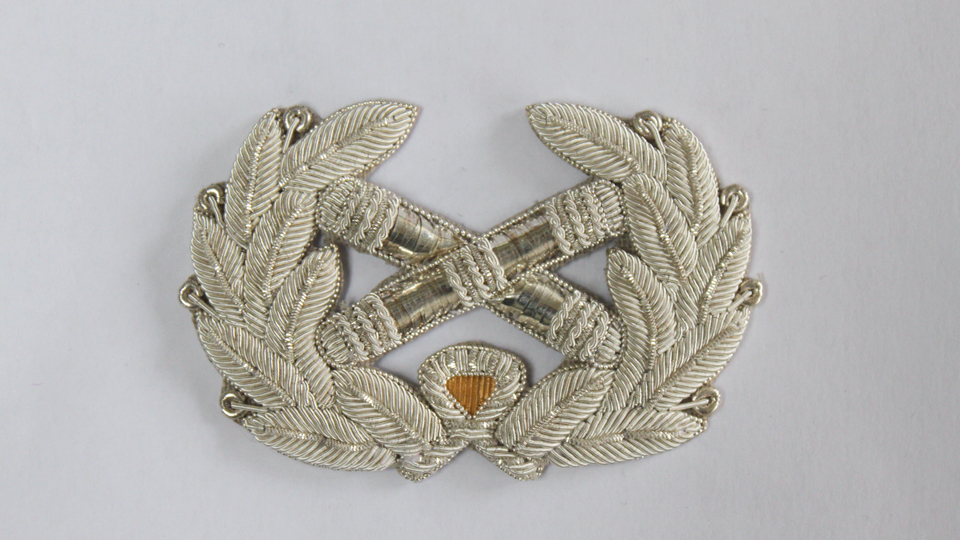 wreath and batons embroidery