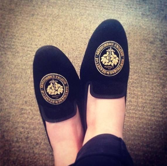 Hawthorne & Heaney does Bespoke Slippers London Hand Embroidery