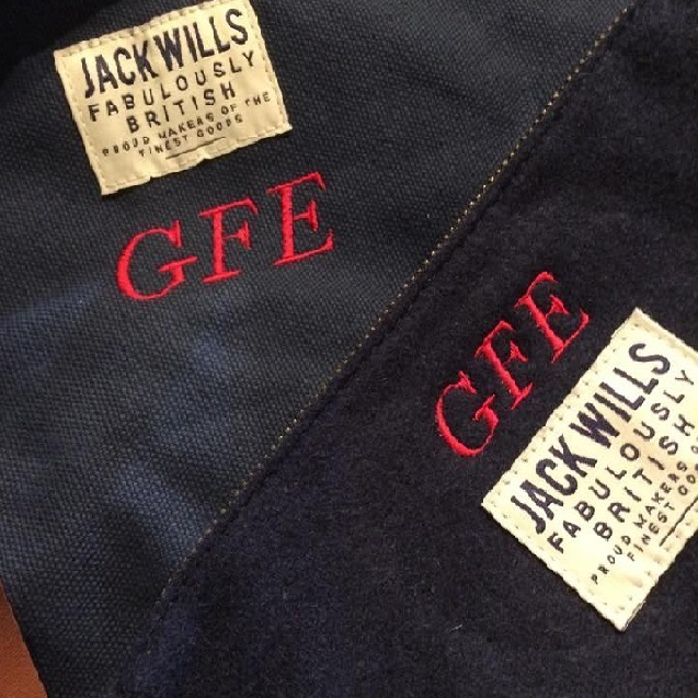 Hawthorne & Heaney Monograms for Jack Wills this Christmas London Hand Embroidery