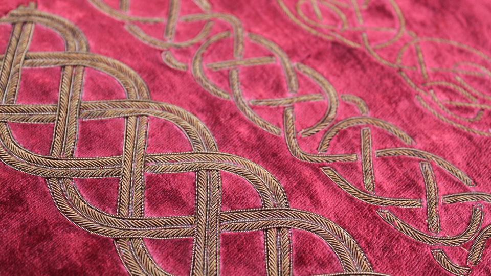 celtic embroidery curtain