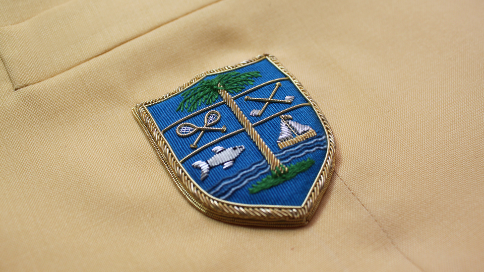 crest embroidery club jacket
