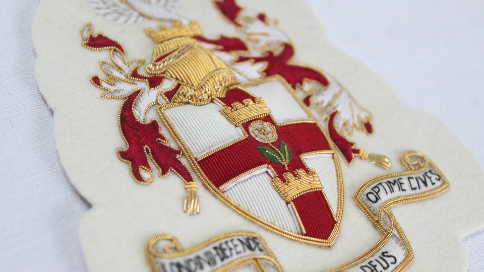crest embroidery