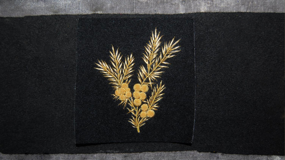 floral embroidered gold work