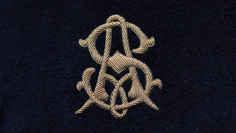 Bespoke Slipper monogram embroidery
