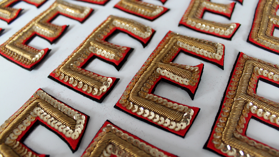 Costume embroidery beefeater