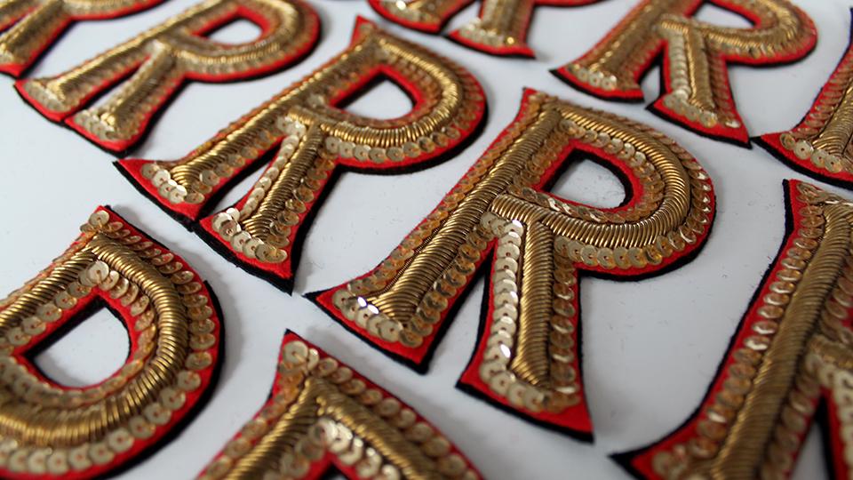 Costume embroidery replica