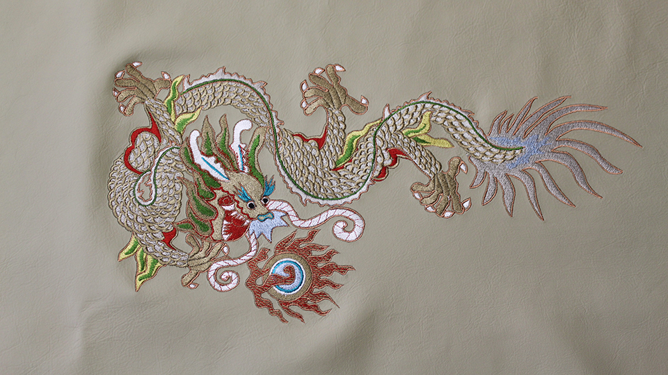 Hakkasan dragons embroidery small