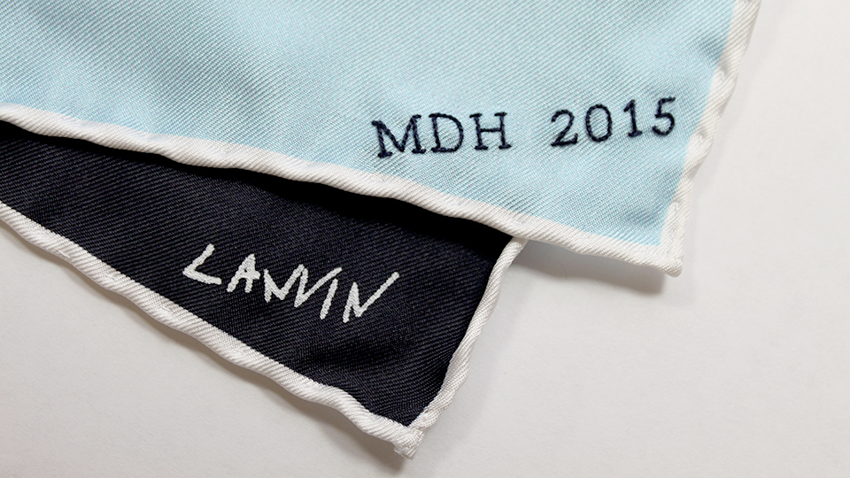 Lanvin embroidered hankercheif