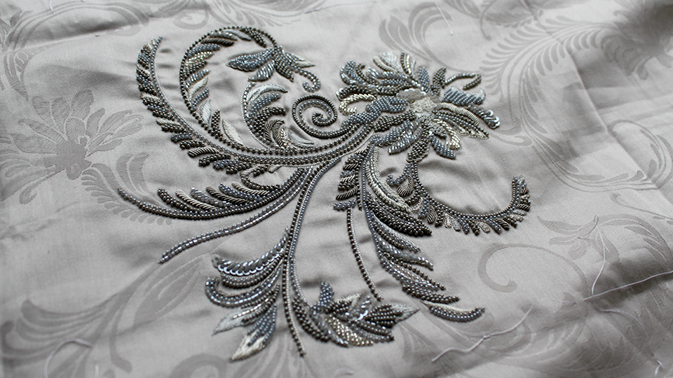 beading embroidery wedding