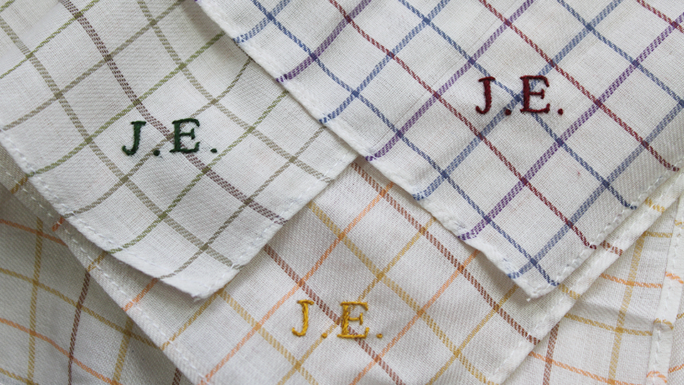 Hawthorne & Heaney does Father's Day London Hand Embroidery