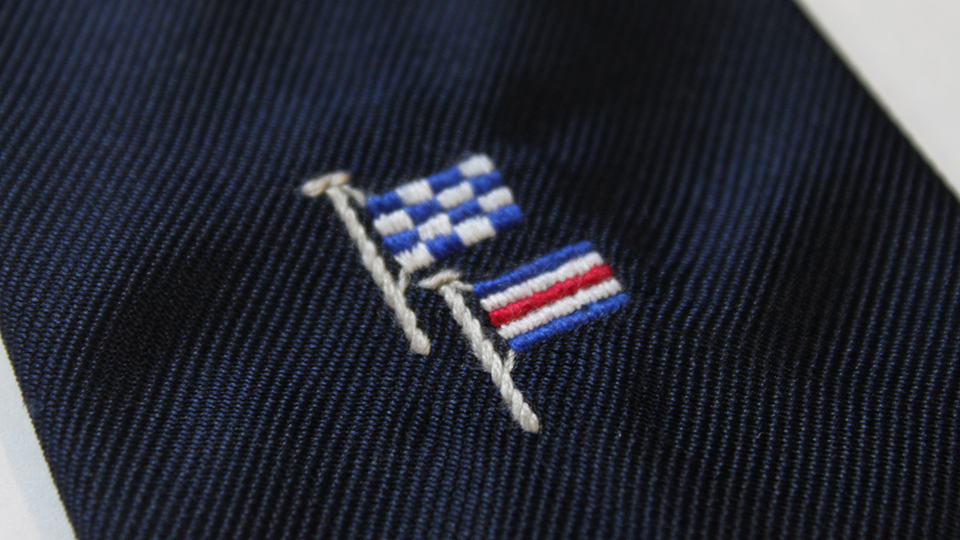 flag embroidery ties