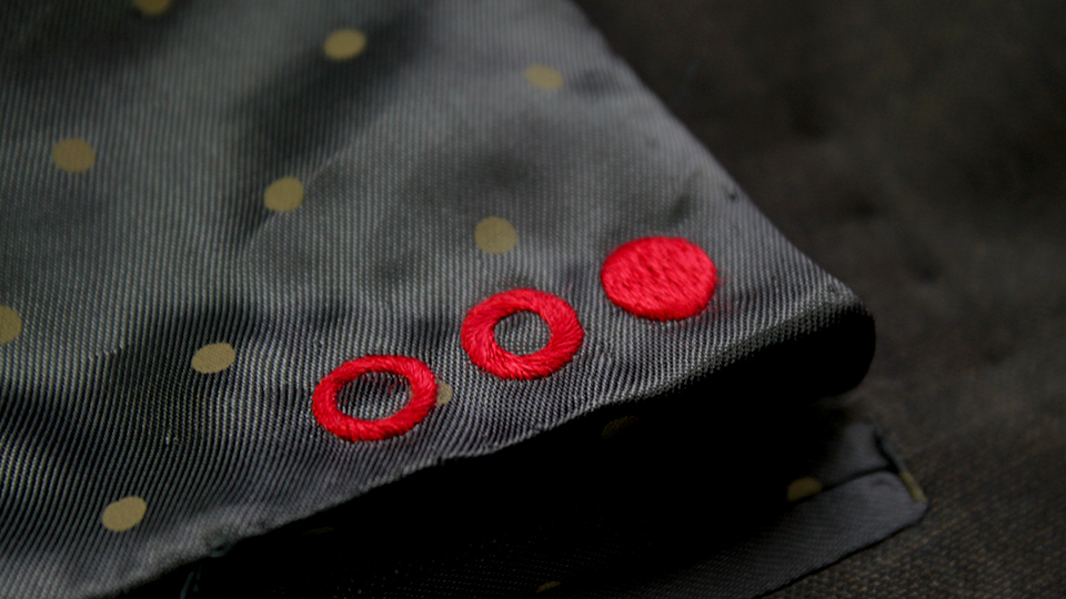 logo hand embroidery lining
