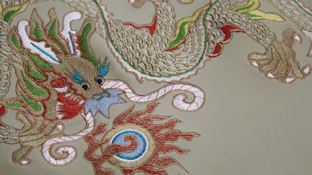 Machine embroidery hakkasan