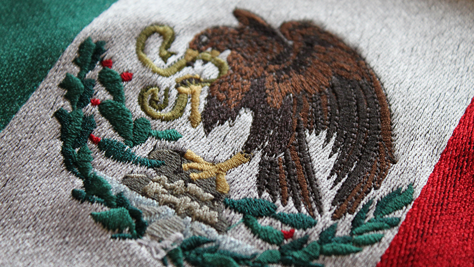 Bespoke embroidered eagle