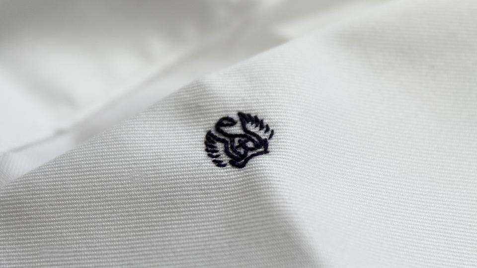 Bespoke logo monogram embroidery