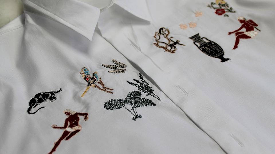 Bruta arthur embroidery bespoke shirt