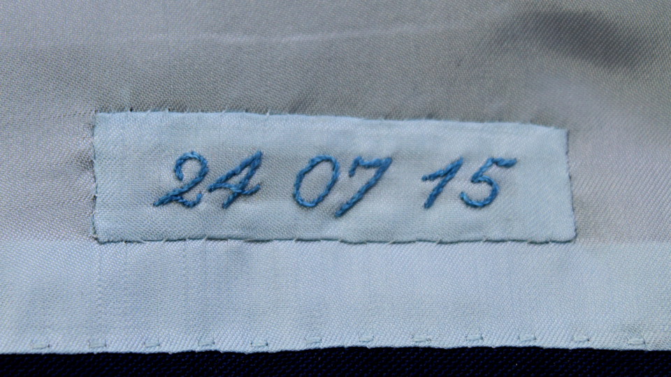 date embroidery into jacket