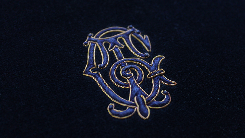 hand embroidery monogram