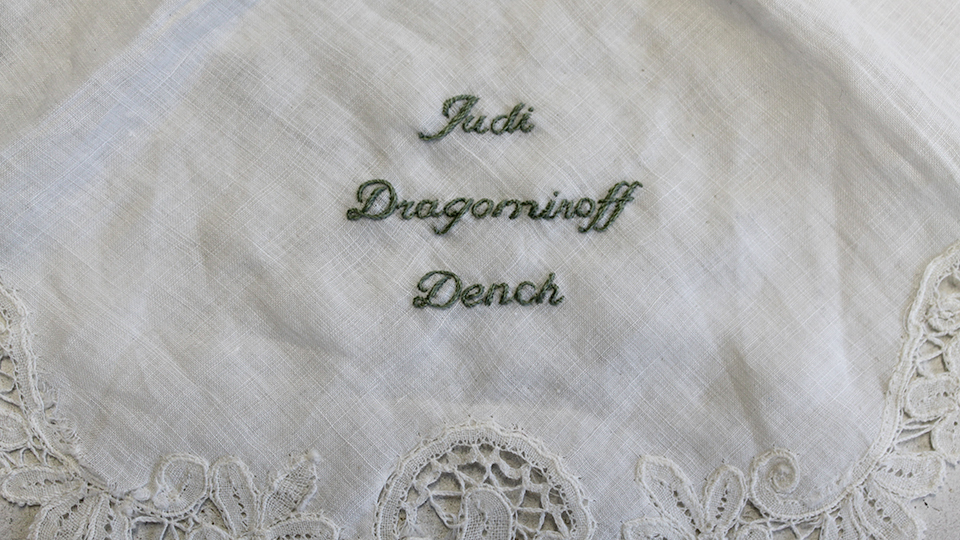 monogram embroidery for celebrity