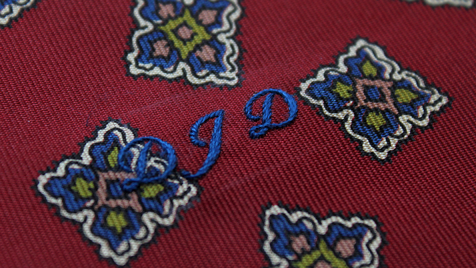 monogrammed pocket square