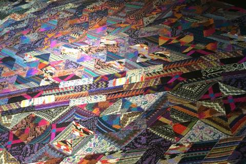Hawthorne & Heaney at the Missoni Art Colour Exhibition London Hand Embroidery