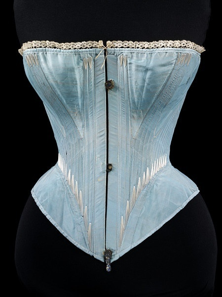 v and a underwear blue corset