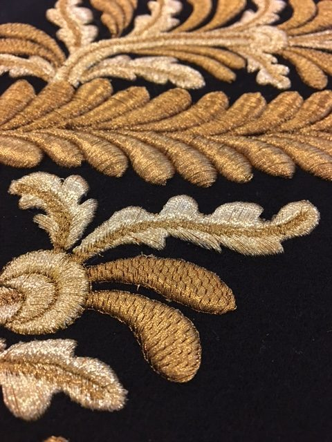 Hawthorne & Heaney Experiments with Machine Ceremonial Military Embroidery London Hand Embroidery