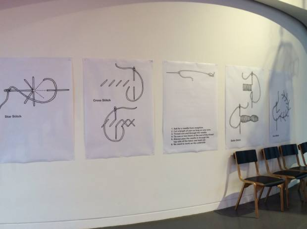 Hawthorne & Heaney Visits Molly Goddard's 'What I Like' Exhibition at the NOW Gallery London Hand Embroidery