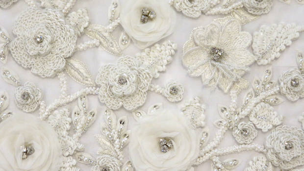Bridal couture embroidery bespoke custom london