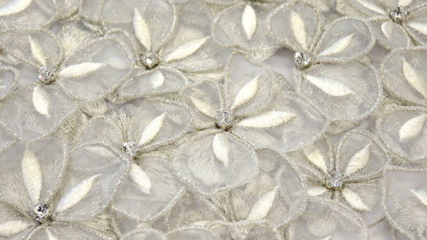 Bridal couture embroidery bespoke custom london floral