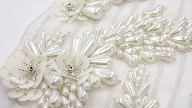 Bridal couture embroidery bespoke custom london wedding
