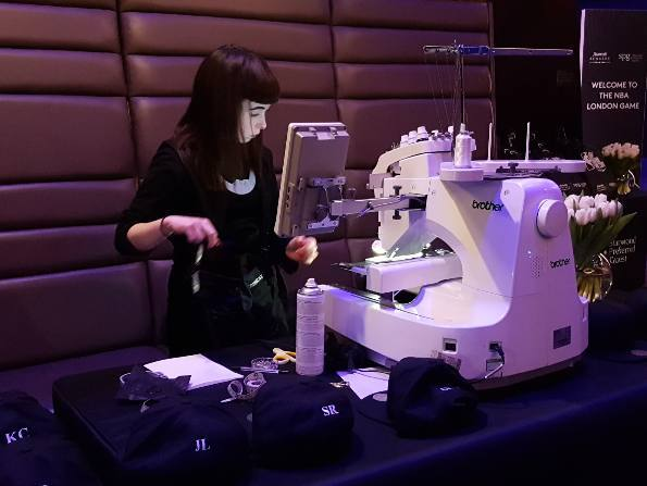 Hawthorne & Heaney Monogramming Event for the NBA London Hand Embroidery