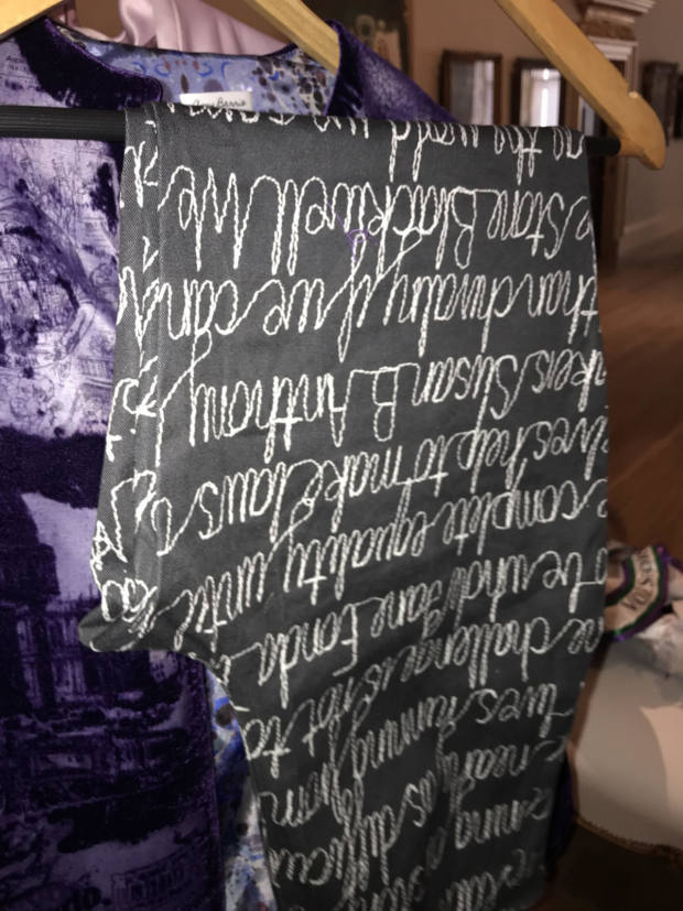 Hawthorne and Heaney Attends Amy Barrie 2020 Collection Preview London Hand Embroidery
