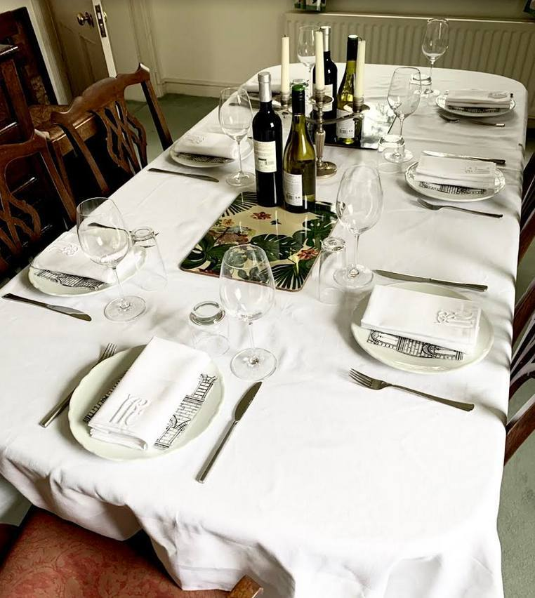 Hawthorne & Heaney on Bespoke Tablescapes London Hand Embroidery