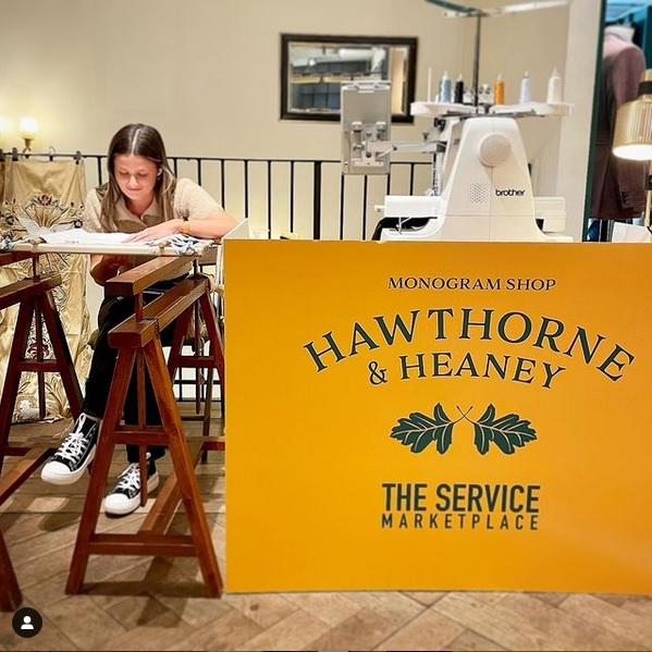 Hawthorne & Heaney at the Savile Row: Theatre of Craft Marketplace London Hand Embroidery