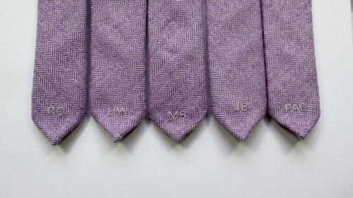 embroidered ties groomsmen